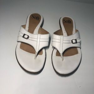 SOFFT white leather sandals size 8